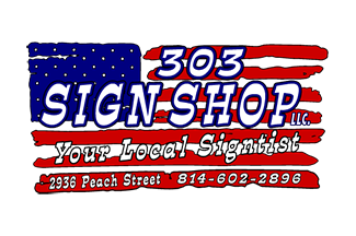 303 Sign Shop Logo