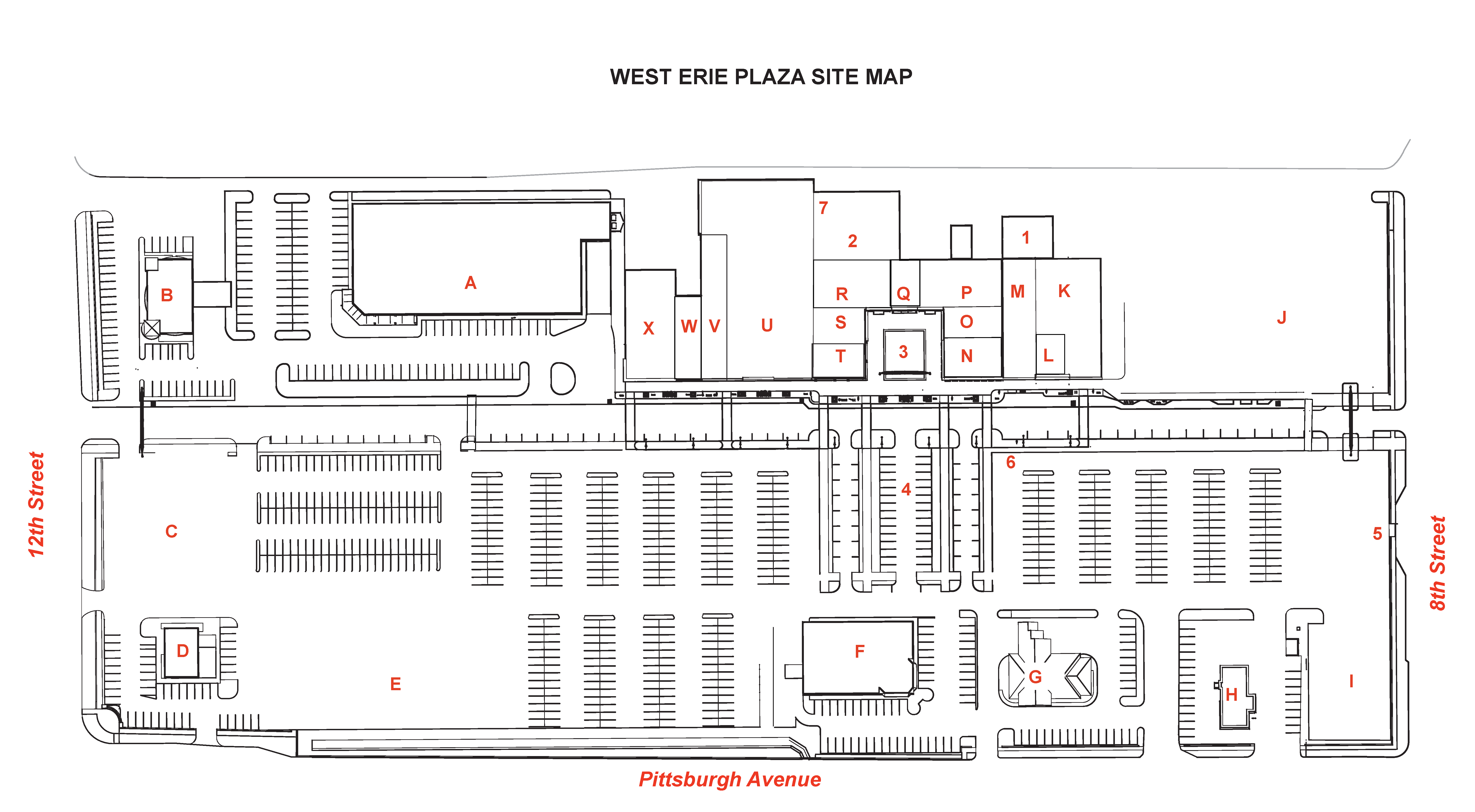 West Erie Plaza Map Directory